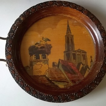 Small Hand Painted Vintage Souvenir Tray Thrift Shop Find 1,25 ($1.30)