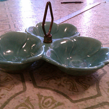 Flower Candy Dish - Art Pottery