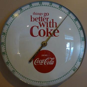 1950's-60's TGBWC Coca-Cola Thermometer