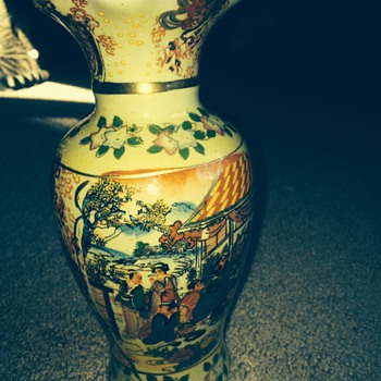 Hand Painted Ming Dynasty Porcelain Vase - Asian