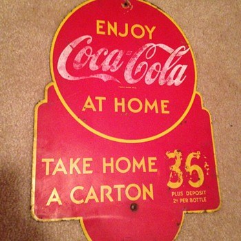 1930's Coca-Cola Rack Sign