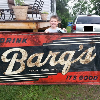 Large Barq's Tin Sign Donaldson Art Sign Co.
