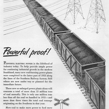 1954 - Southern Railway Advertisement