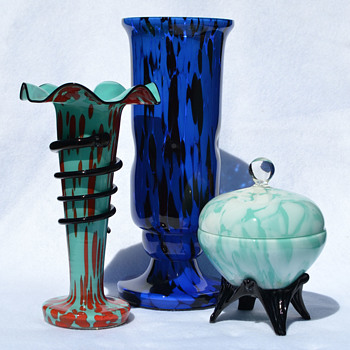 Blue Welz grouping - Art Glass