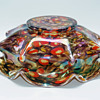 Kralik Millefiori Iridized Knuckle Bowl vase
