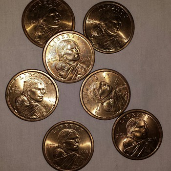 2000 Sacagawea Gold Dollars