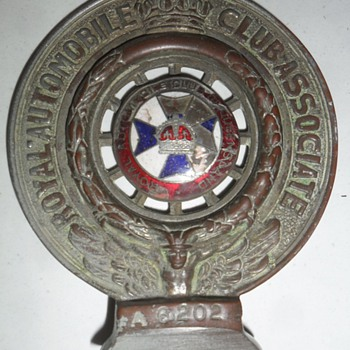 Early RACQ Bumper Bar Emblem - Classic Cars
