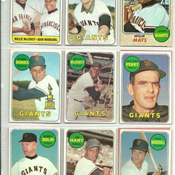 1968-69 Topps Baseball Cards, San Francisco Giants - Baseball