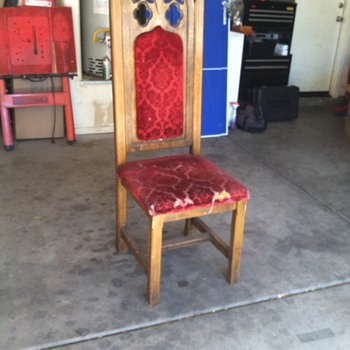 Gothic Cathedral Type Chair