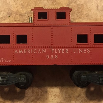 3 Caboose Cars from american flyer