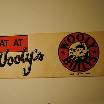 Wooly Bully's Paper Diner Hat - Advertising