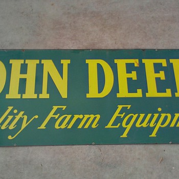 John Deere Vintage Dealer Sign