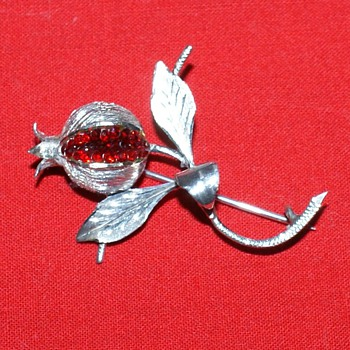 Pomegranate  Pin - Costume Jewelry