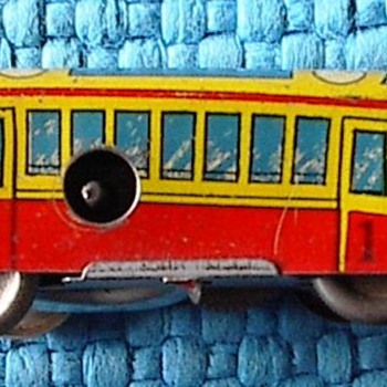 Antique Tin Trolley Toy - Railroadiana