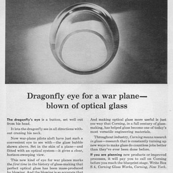 1951 - Corning Glass Advertisement