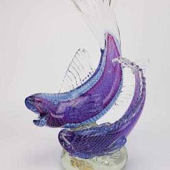Seguso Vetre D' Arte Murano Sommerso Fish  - Art Glass