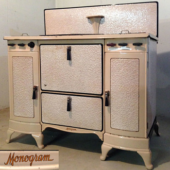 1930s  Monogram Cast Iron Stove - Kitchen