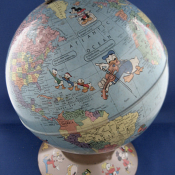 Pre-1960 Disney Rand McNally World Globe - Office