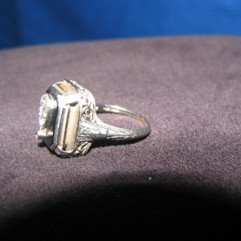 Diamond/onyx ring from my Grandmother - Fine Jewelry