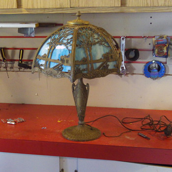old slump glass light - Lamps