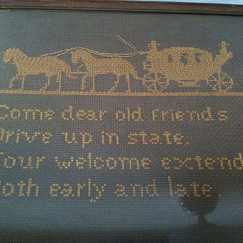 Old needlepoint from childhood - Sewing