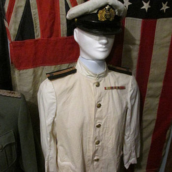 WWII Imperial Japanese navy Officers Summer Uniform & Cap