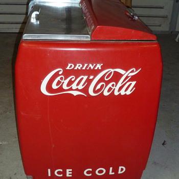 """coca cola deli  cooler L 72""""x H 36""""x W 26"""" ."""