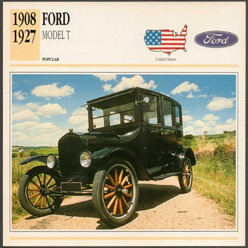 Vintage Car Card - Ford Model T