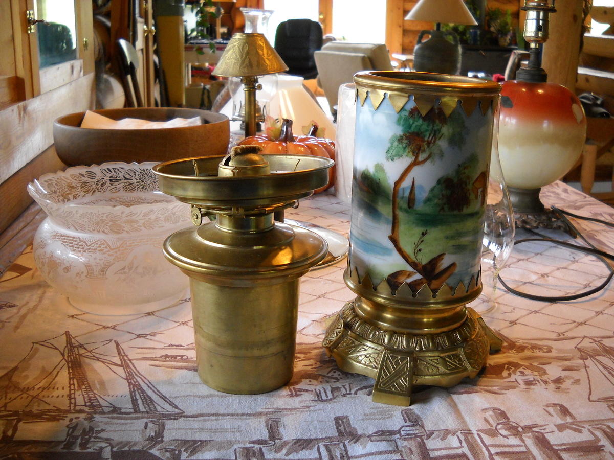 Antique Oil Lamp Can Anyone Help With Identification Or