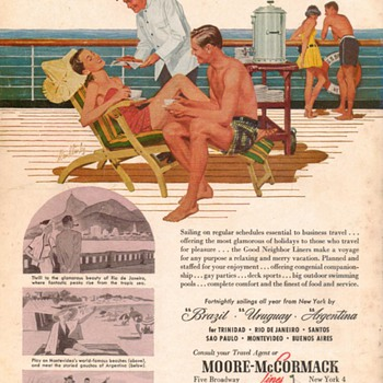 1953 - Moore McCormack Cruise Line Advertisement
