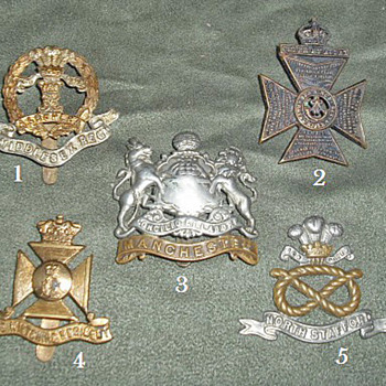 Badges for all 1914 British Line Infantry Regiments, Part 6 - Military and Wartime