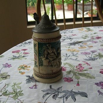My Mother in Law's family antique beer stein.   - Breweriana