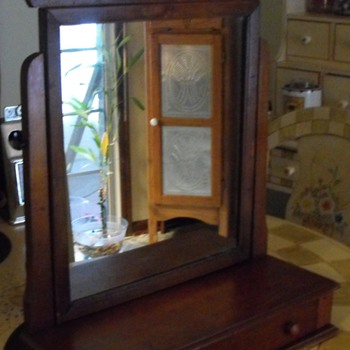 Antique gentlemans adjustable shave dresser mirror.  Need help to Identify?? - Furniture