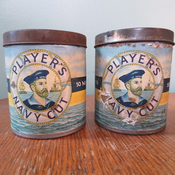 cool vitage tobacco tins