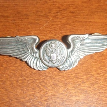 WW2 Army Air Corp clutch back wings