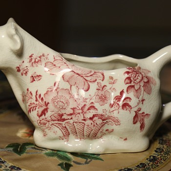 Staffordshire Creamer - Charlotte, Royal Crownford - Pottery