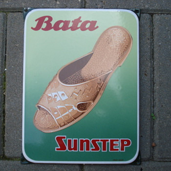 porcelain sign bata sunstep