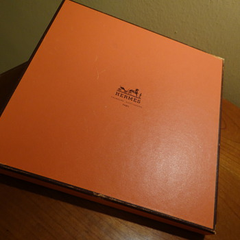 AUTHENTIC VINTAGE HERMES  PARIS -SCARVE BOX  - Accessories