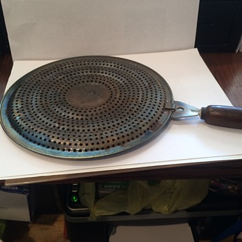 Metal Circle with holes and handle, two sided  - Kitchen