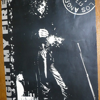 "The DOORS  ""Light My Fire"" Tour Poster"