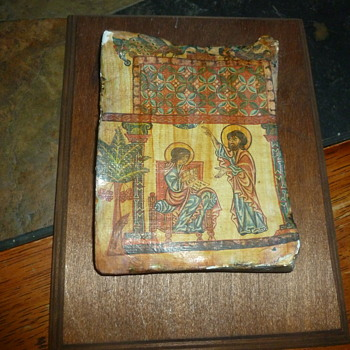 Old religious tile art work