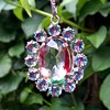 1950s Silver Rainbow/Iris Crystal Pendant - Another One!