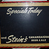 Stein's Canandaigua Beer and Ale Chalkboard Menu Sign