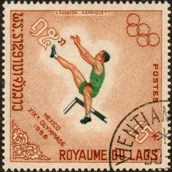 "1968 - Laos ""Olympic Games"" Postage Stamps - Stamps"