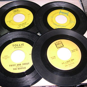 BEATLES 45&#039;S  TOLLIE  SWAN  AND  PARLOPHONE COLLECTION