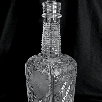 American Brilliant Cut Glass Whiskey Bottle