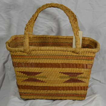 Antique Indian Basket with Handle - Native American