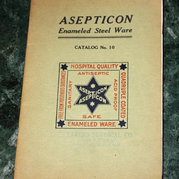 Asepticon - Enameled Steelware - Catalog No. 10 - Paper
