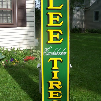 lee tires porcelain sign