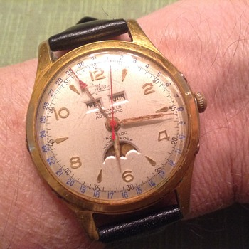 VINTAGE ALWA MOONPHASE 25 JEWEL WATCH